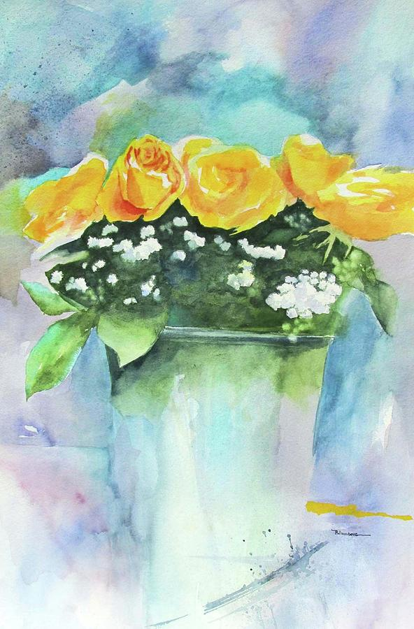 Still Life Painting - Roses Row by Mary Blumberg