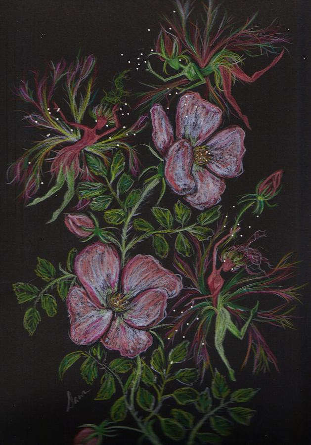 Wild Flowers Drawing - Roses Run Amok by Dawn Fairies