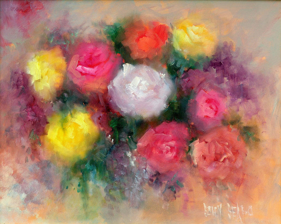 Roses Painting - Roses by Sally Seago