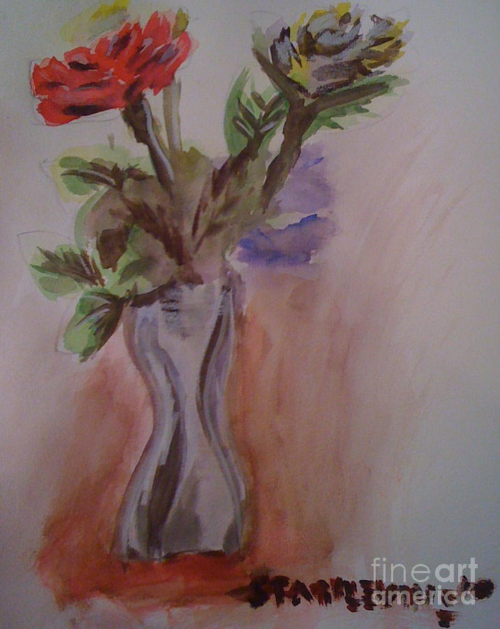 Watercolor Painting - Roses by Stan Levine