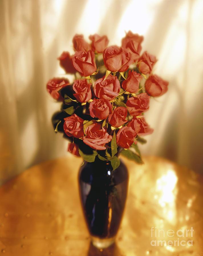 Red Photograph - Roses by Tony Cordoza