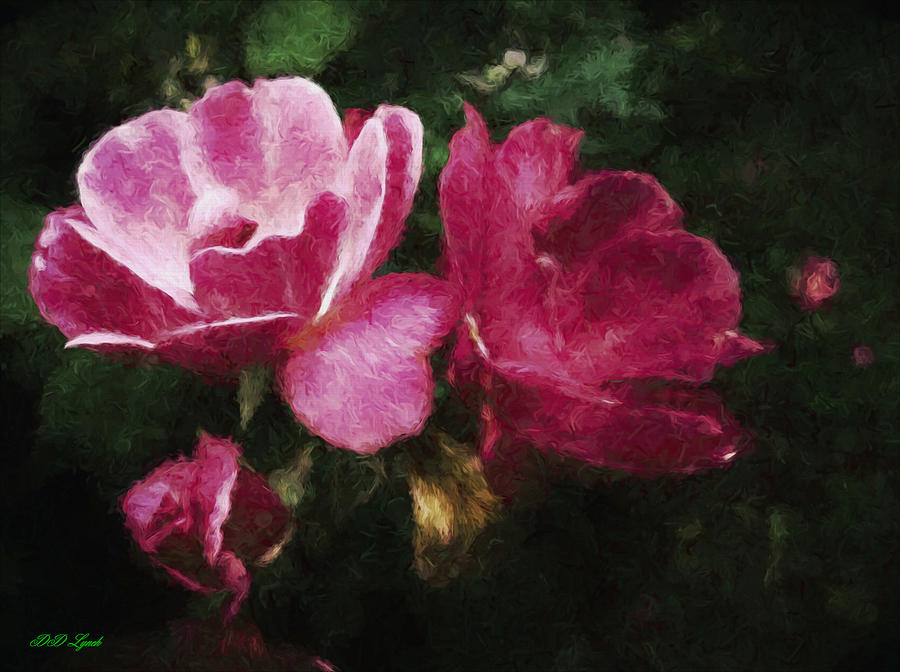 Roses Mixed Media - Roses With Texture by Debra Lynch