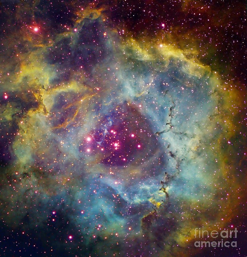 Astronomy Photograph - Rosette Nebula Ngc 2244 In Monoceros by Filipe Alves