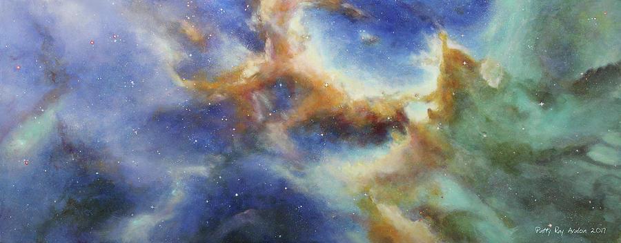 Rosette Nebula Painting - Rosette Nebula by Patty Ray Avalon