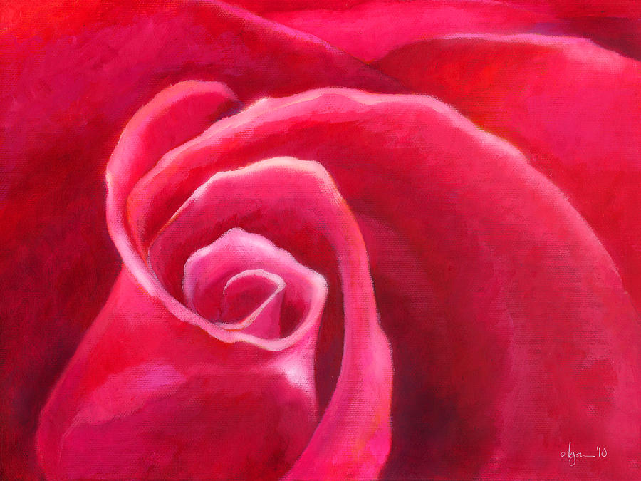 Roses Painting - Rosey Lover by Angela Treat Lyon