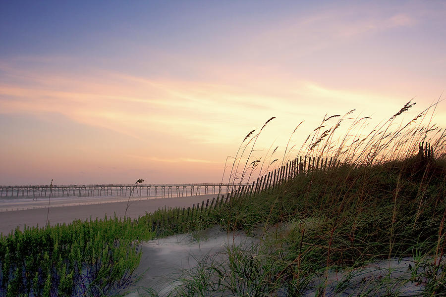 Atlantic Beach Photograph - Rosey Sunset 1 by Alan Hausenflock