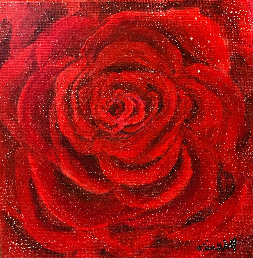 Rose Painting - Rosie by Kim Wall