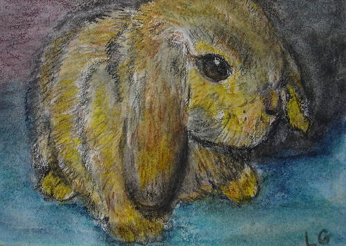 Bunny Painting - Rosie by Lessandra Grimley