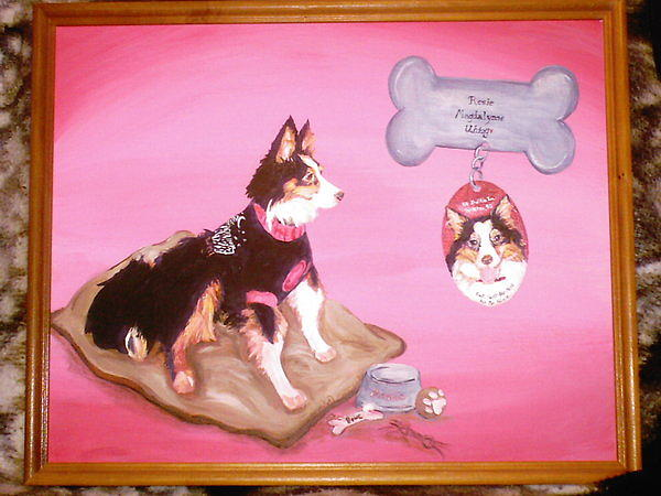 Pet Painting - Rosie by Nicole Uhing