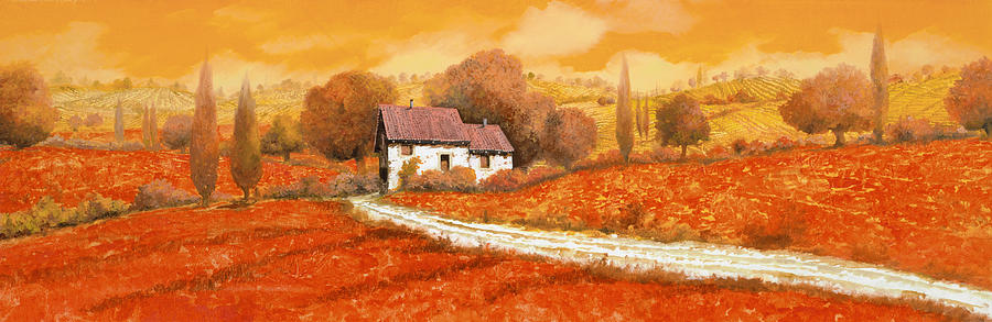 Tuscany Painting - I papaveri rossi by Guido Borelli