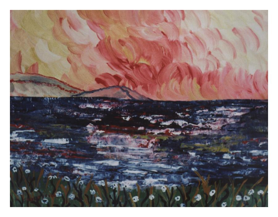 Seascape Painting - Rosso Sul Mare by Carla Marino
