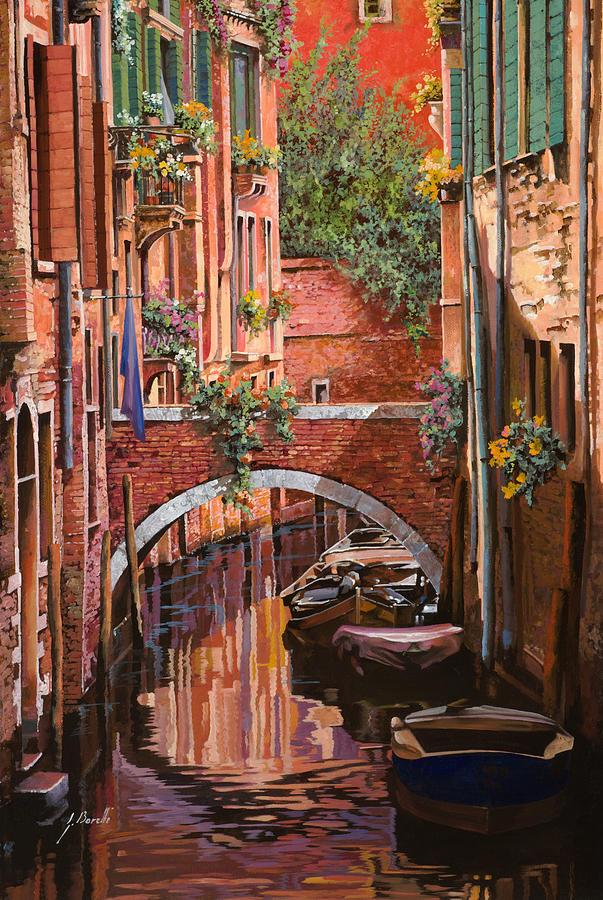 Venice Painting - Rosso Veneziano by Guido Borelli