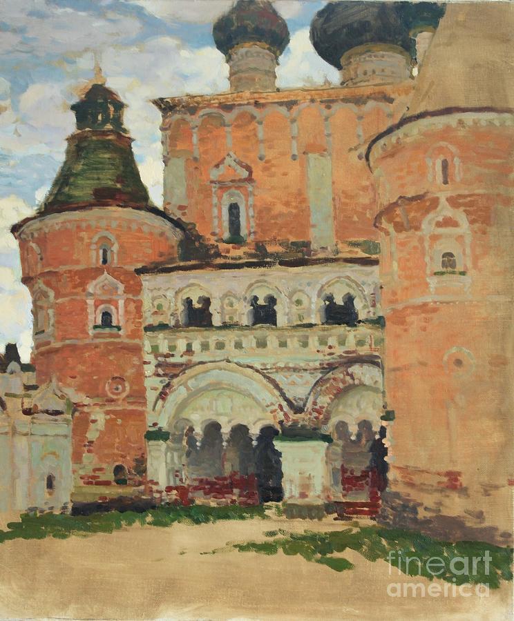 Landscape Painting - Rostov Kremlin by Anna Ankudinova