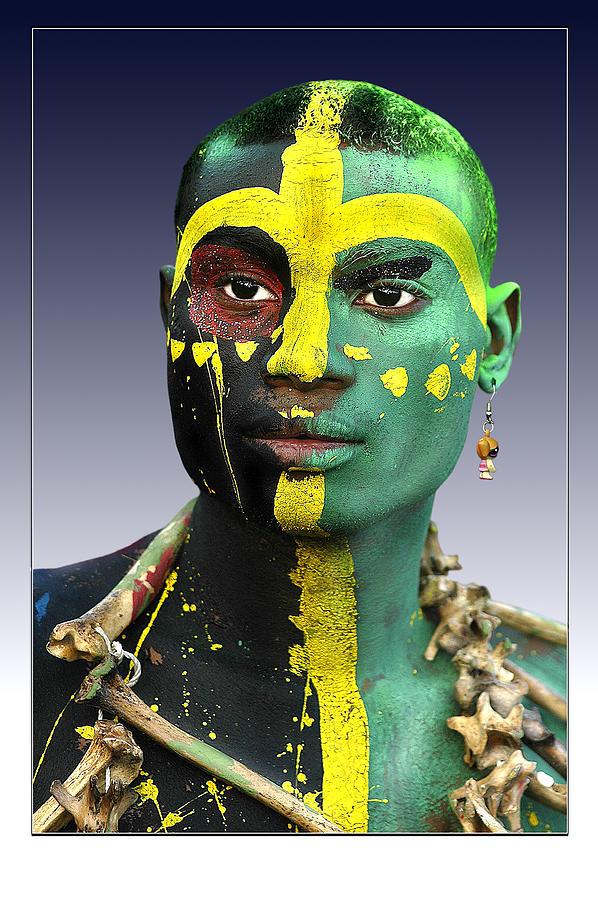 Face Photograph - Rostro De Carnaval by Osvaldo Carbuccia