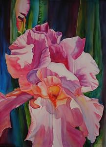 Rosy Dancer Painting by Rene Lynch