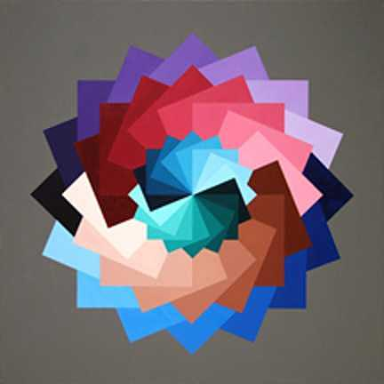 Rotating Squares Painting by Marston A Jaquis