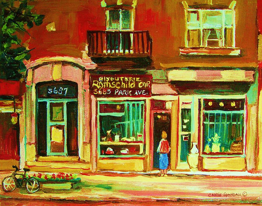 Montreal Painting - Rothchilds Jewellers On Park Avenue by Carole Spandau