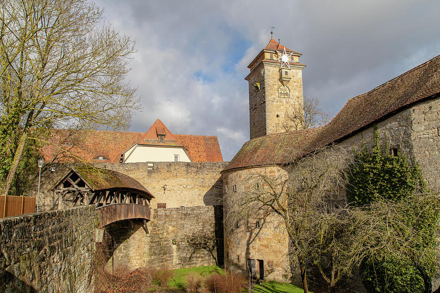 Landscape Photograph - Rothenburg ob der Tauber from outside by M C Hood