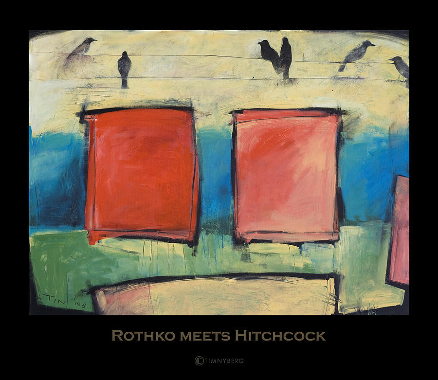 rothko painting rothko meets hitchcock poster by tim nyberg