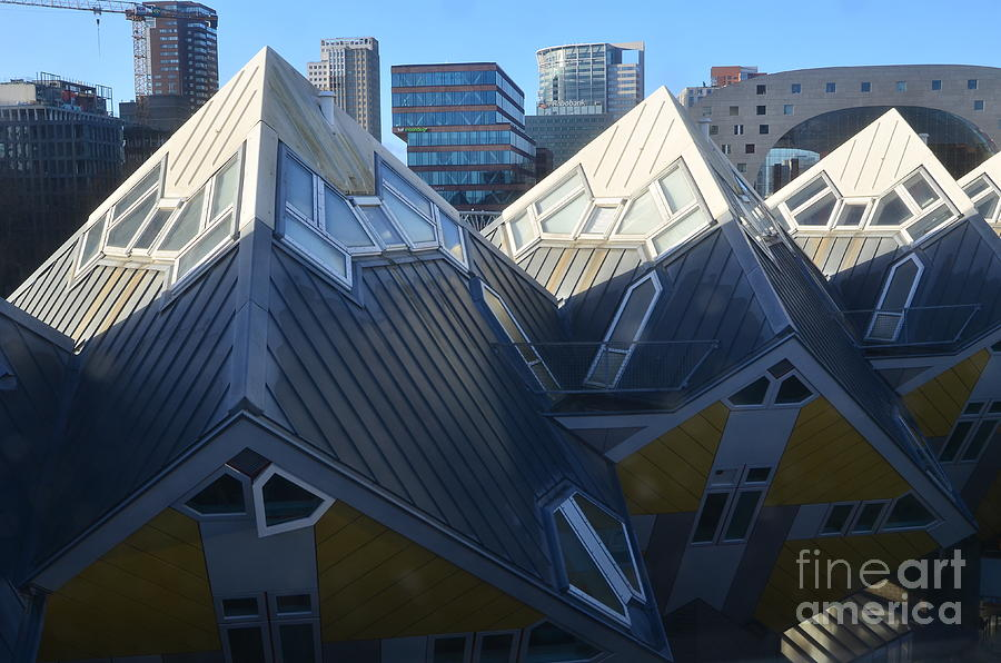 Architect Photograph - Rotterdam - The Cube Houses And Skyline by Carlos Alkmin