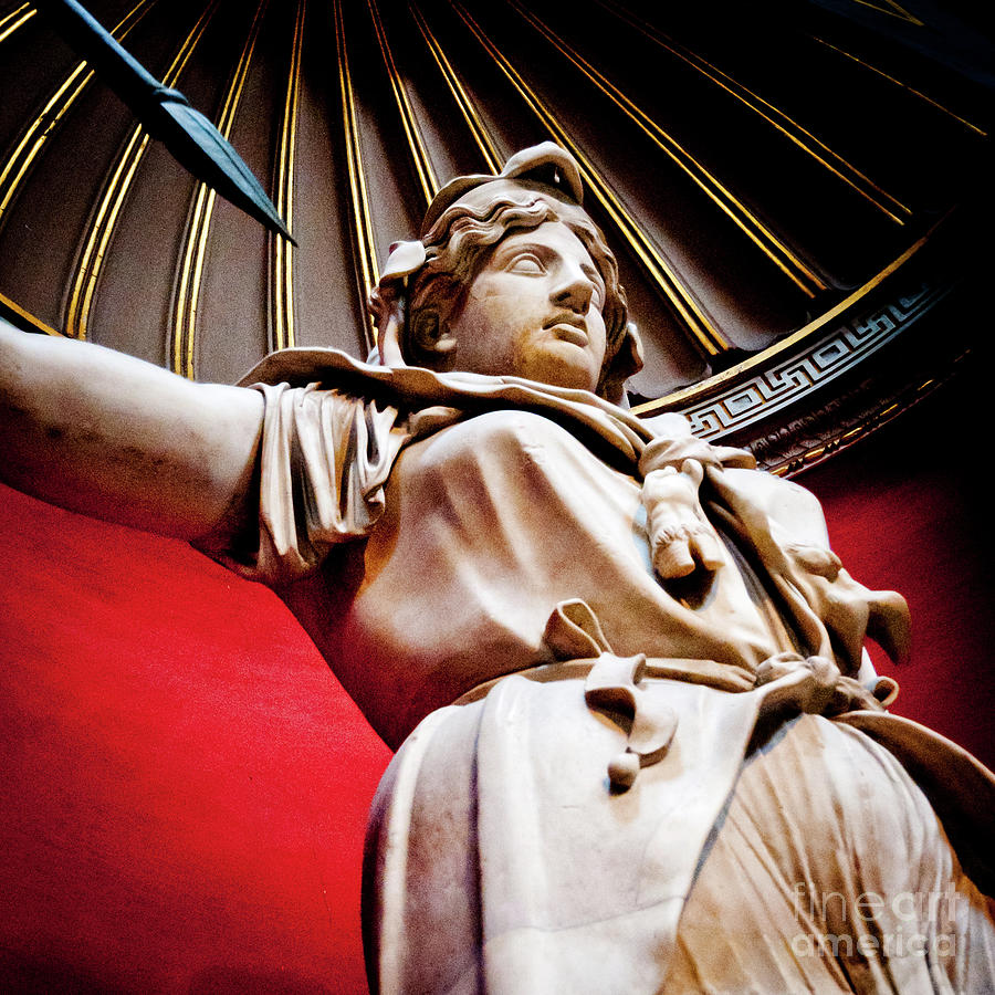 Roma Photograph - Rotunda Colossals 2 Of 3 Vatican Museum Ancient Statues Rome Italy by Andy Smy