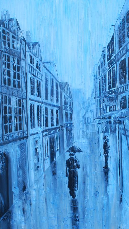 Rouen Painting - Rouen In The Rain by Emily Page
