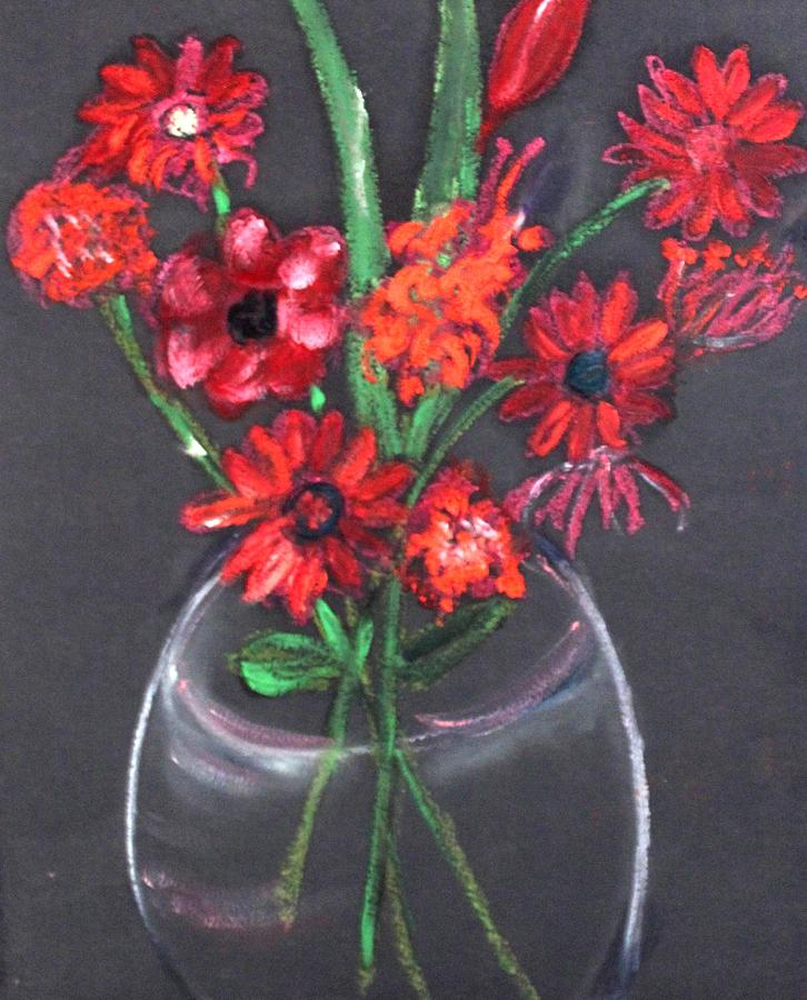 Still Life Painting - Rouge Et Noir by Michela Akers