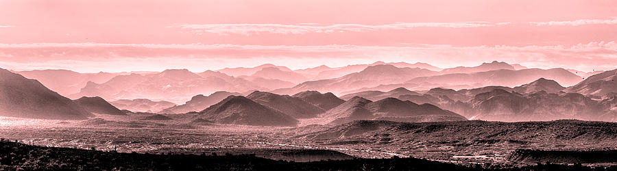 Landscape Photograph - Rouge Hills Of The Tonto by Mike Herdering