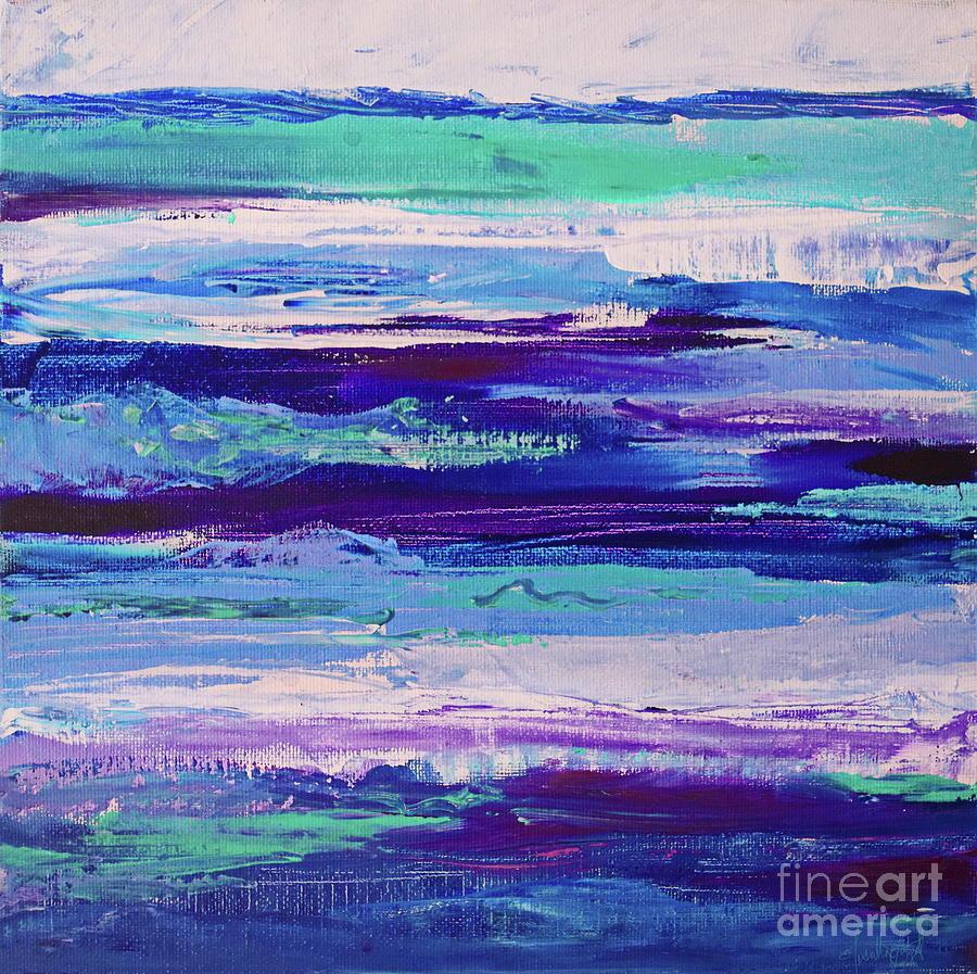 Impasto Painting - Rough purple stripes by Priscilla Batzell Expressionist Art Studio Gallery