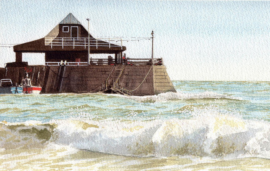 Seascape Painting - Rough Sea Broadstairs by Martin Howard