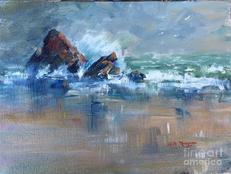 Rough Sea Clonea Dungarvan, County Waterford by Keith Thompson