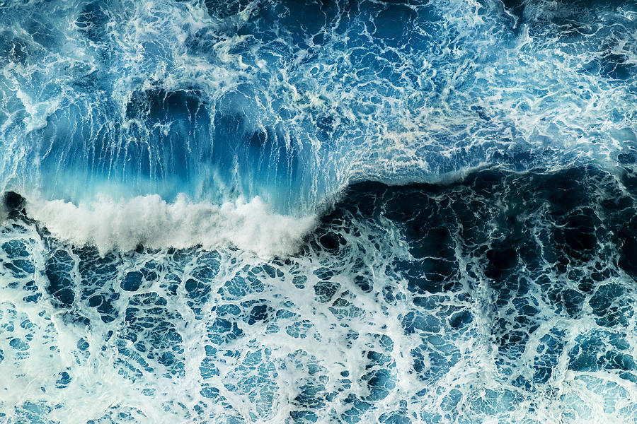 Water Photograph - Rough sea by Joost Lagerweij