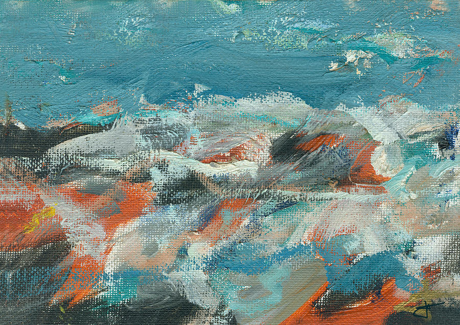 Seascape Painting - Rough Waters by Jorge Delara