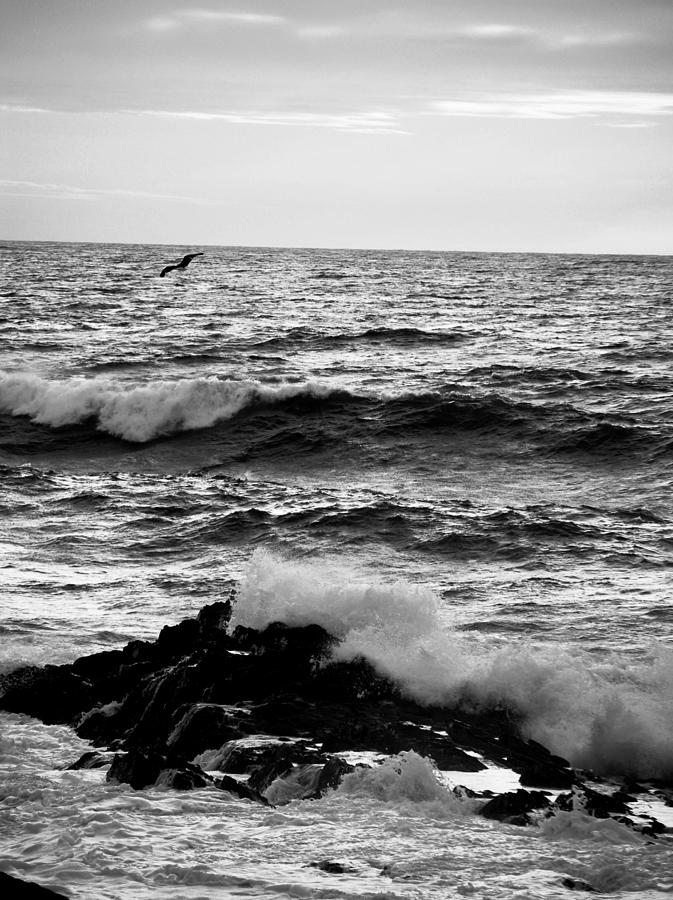 Ocean Photograph - Rough Waters by Sarah Jean Sylvester
