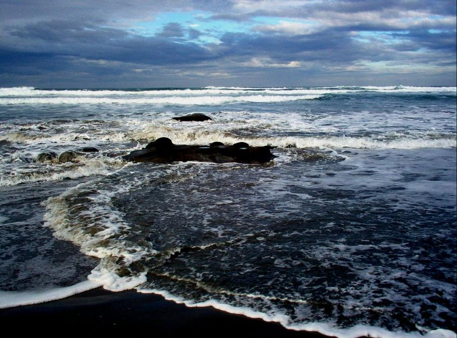 Ocean Photograph - Rough Waters by Trisha Allard