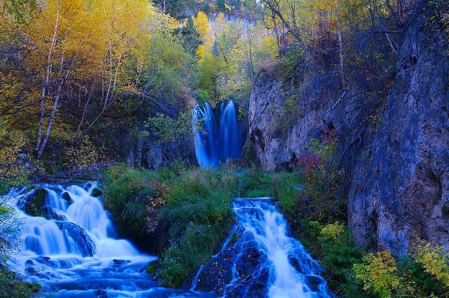South Dakota Photograph - Roughlock Falls by Larry Beck