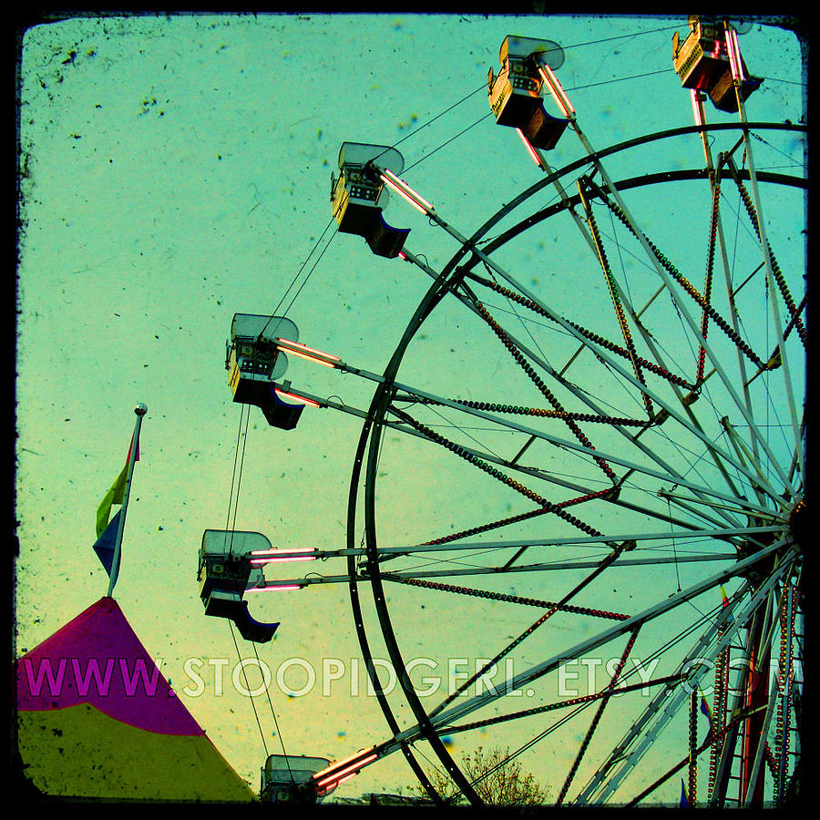 Ferris Wheel Photograph - Round And Round by Kim Ripley