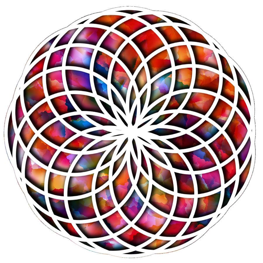 Mandala Digital Art - Round And Round We Go by Lisa Schwaberow