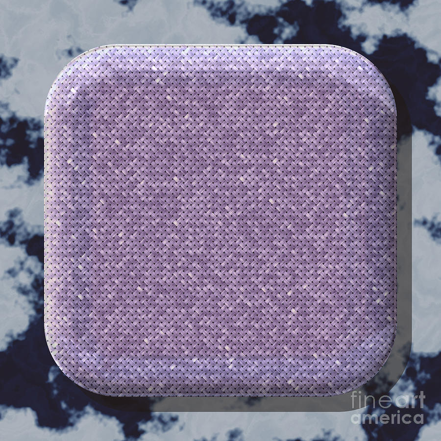 Round Box Shape Frame With Seamless Generated Texture Background Digital Art