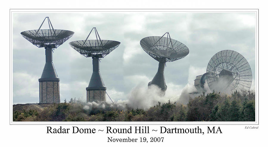 Round Hill Radar Demolition by Ed Cabral