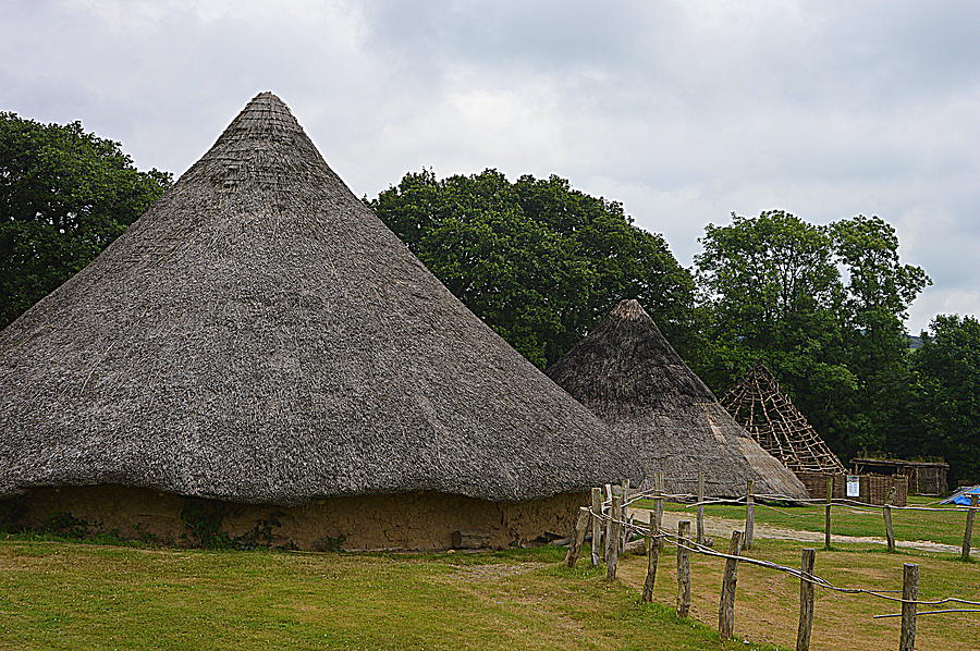 Castell Henllys Photograph - Round House by Andy Thompson