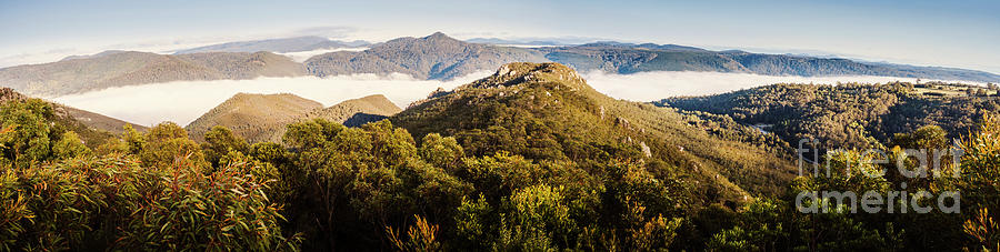 Tasmania Photograph - Round Mountain Lookout by Jorgo Photography - Wall Art Gallery