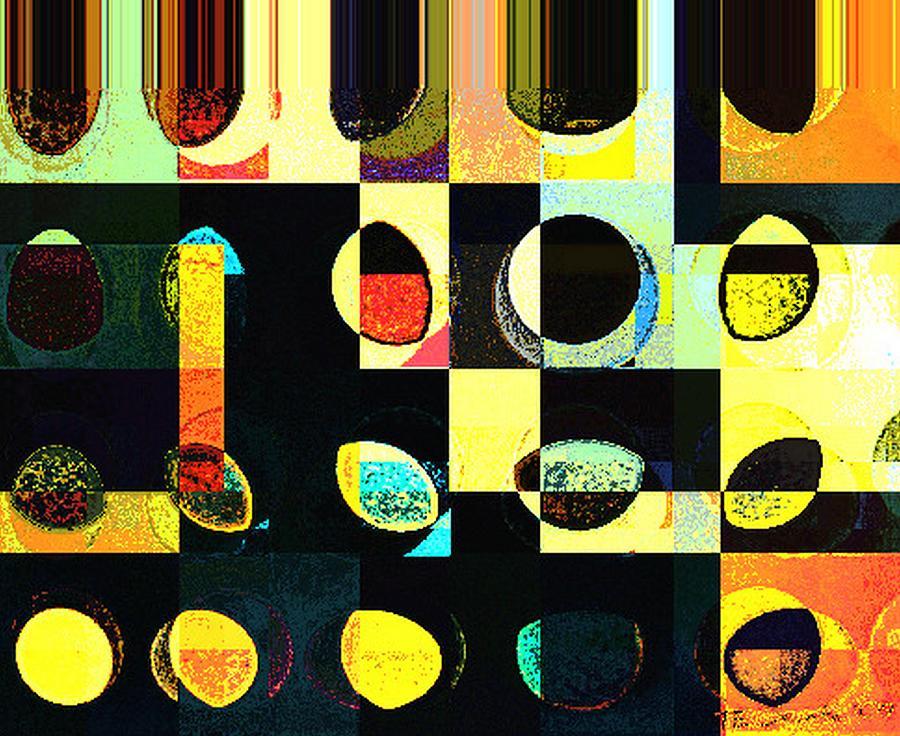 Greeting Cards Digital Art - Round Series 50 by Teodoro De La Santa