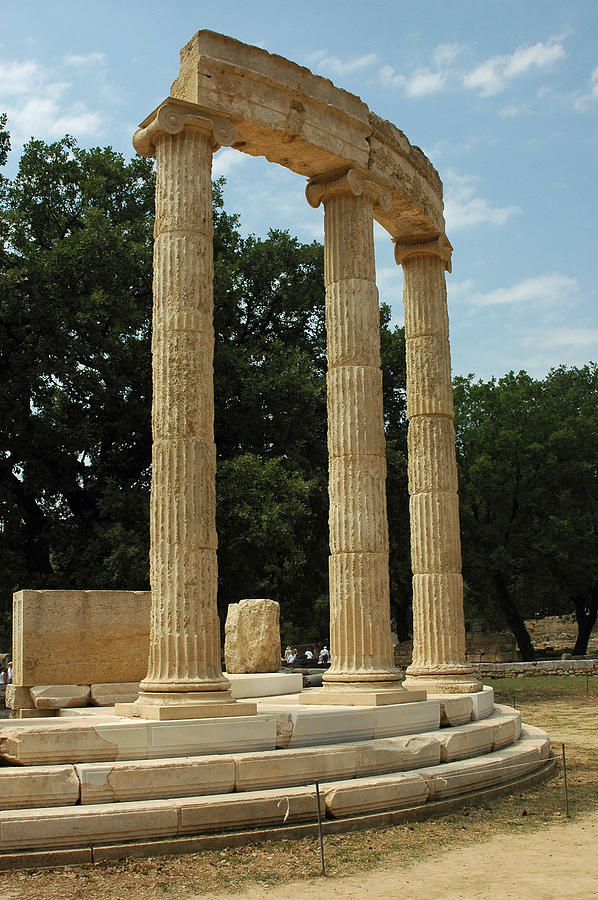 Temple Photograph - Round Temple At Olympia by Deni Dismachek