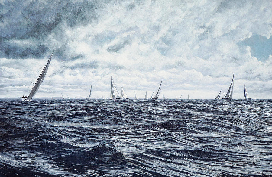 Round The Island Race, Isle of Wight, 2012 by Mark Woollacott
