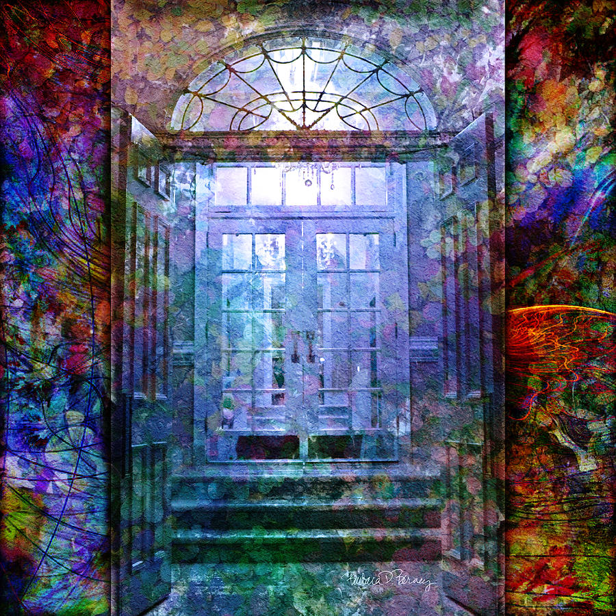 Arch Digital Art - Rounded Doors by Barbara Berney