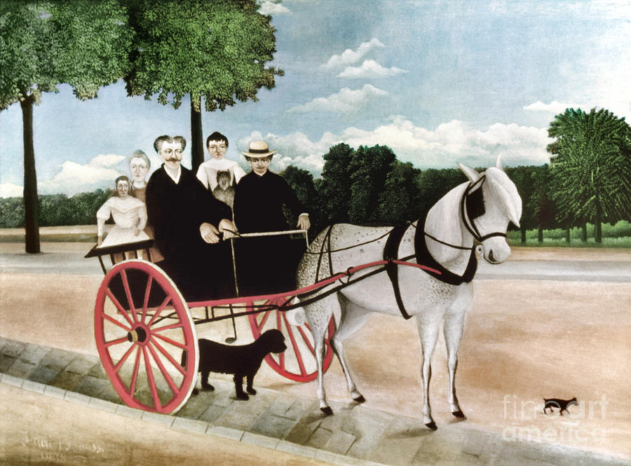 1908 Photograph - Rousseau: Cart, 1908 by Granger