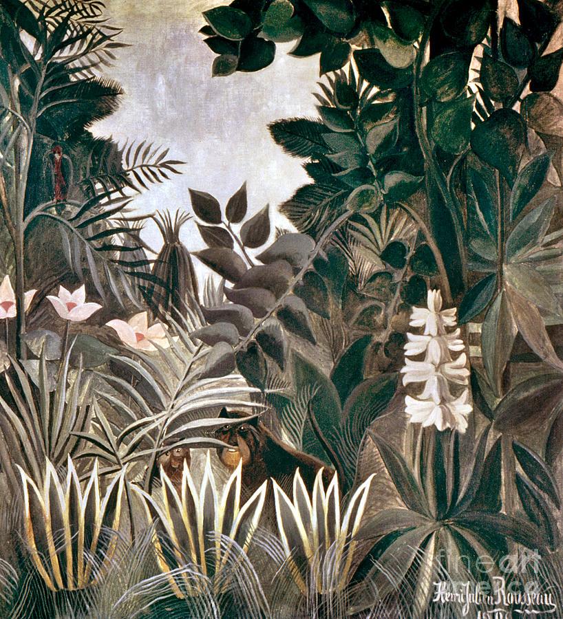1909 Photograph - Rousseau: Jungle, 1909 by Granger