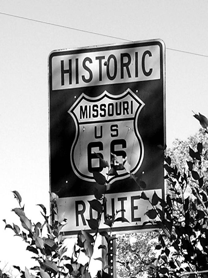Car Photograph - Route 66 by Audrey Venute