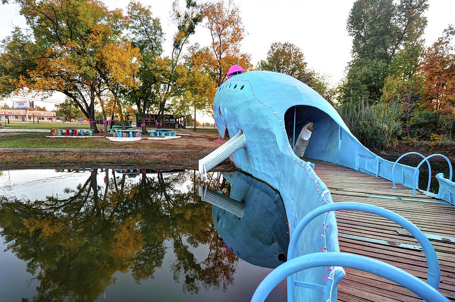 Route 66 Blue Whale Catoosa Oklahoma Photograph By Gregory Ballos